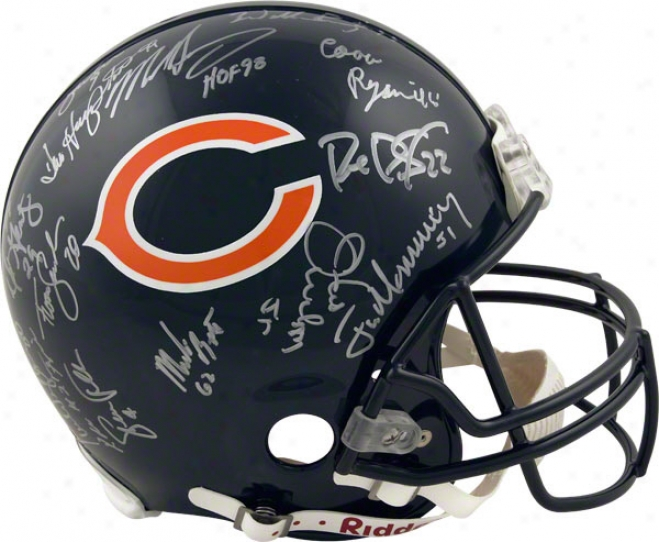 Chicago Bears Autographed Pro-line Helmet  Particulars: 1985 Team Signed, Trustworthy Riddell Helmet