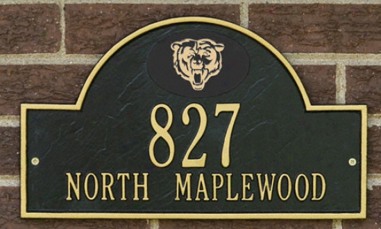 Chicago Bears Wicked And Gold Personalized Address Wall Plaque