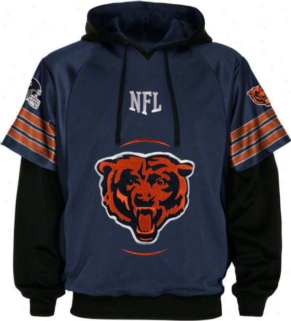 Chicago Bears Gridiron Pullover Jersey And Hooded Sweatshirt