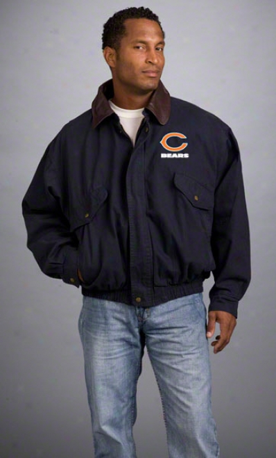 Chicago Bears Jacket: Navy Reebok Navigatot Jacket