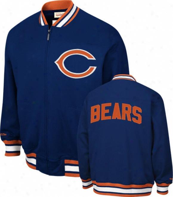 Chicago Bears Mitchell & Ness Sideline Track Jerkin