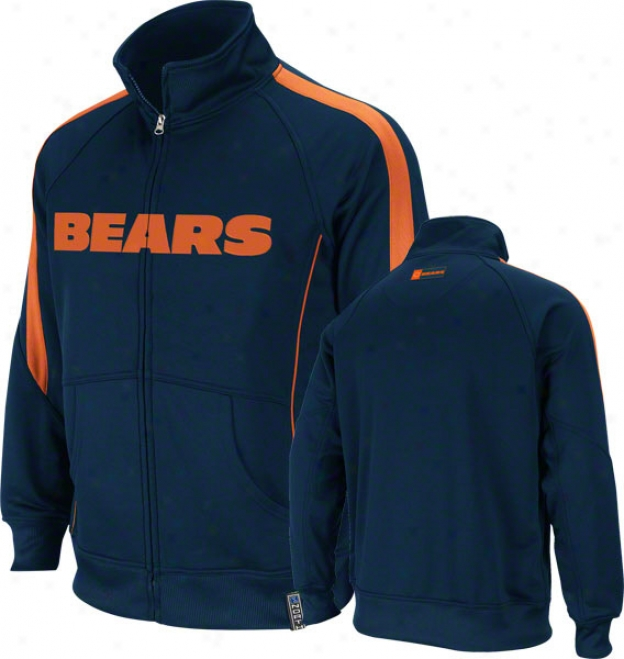 Chicago Bears Ships Tailgate Leisure Track Jacket