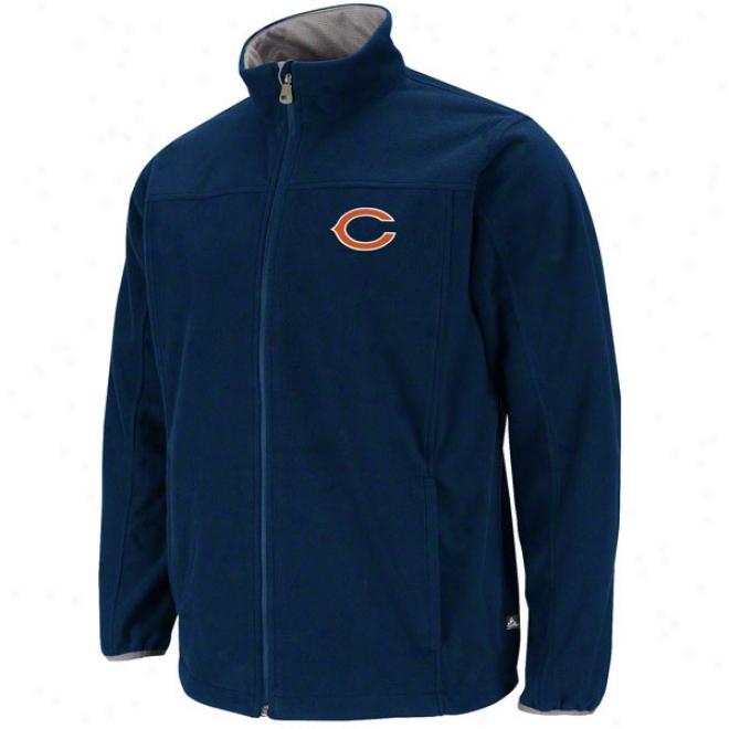 Chicago Bears Safety Blitz Iii Navy Full-zip Jacket