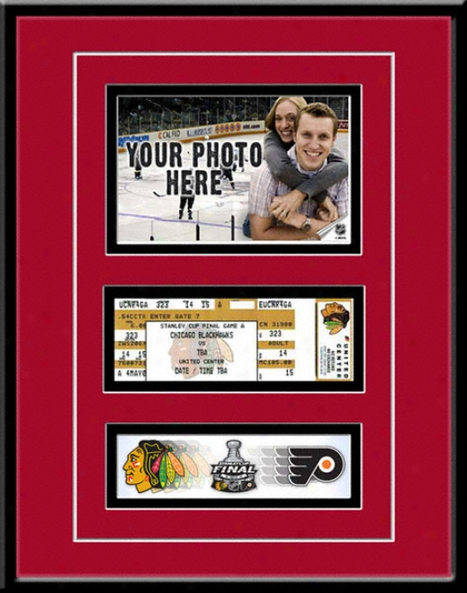 Chicago Blackhawks 2010 Stanley Cup Game Day Ticket Frame