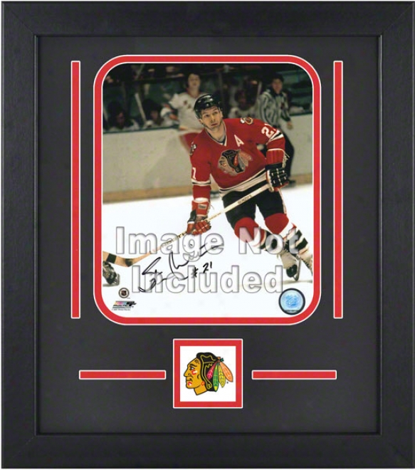 Chicaho Blackhawks 8x10 Vertical Setup Frame With Team Logo