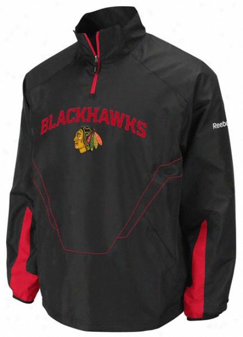 Chicago Blackhawks Black Centeer Center Ice 1/4 Zip Hot Jacket