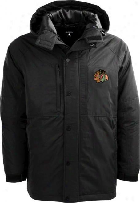 Chicago Blackhawks Black Trek Full-zip Hooded Jacket