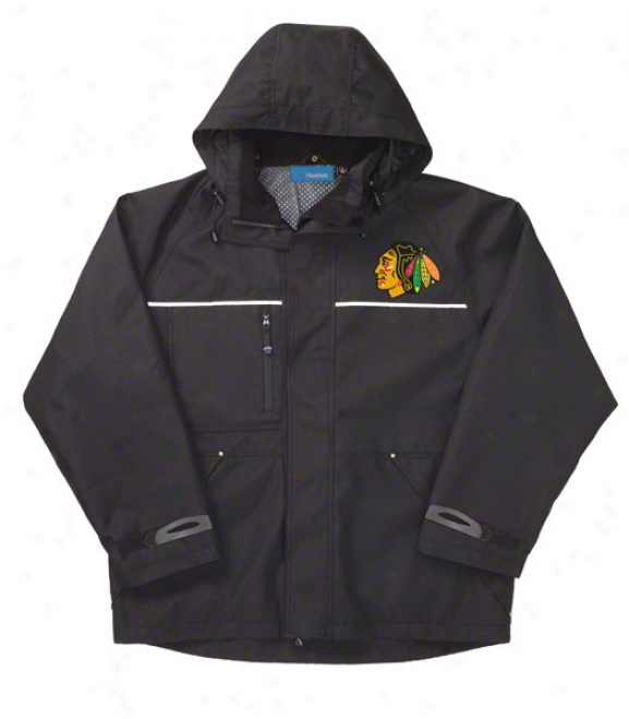 Chicago Blackhawks Jacket: Black Reebok Yukon Jacket