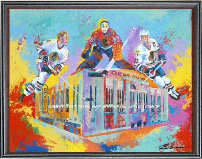 Chicago Blackhawks - &quothawks At Home&quot - Large - Framed Giclee