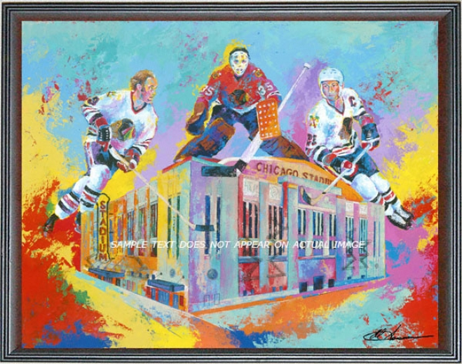 Chiacgo Blackhawks - &quothawks At Home&quot - Oversized - Framed Giclee