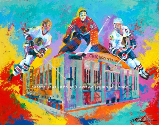 Chicago Blackhawks - &quothawks At Home&quot - Oversized - Unfrmaed Giclee