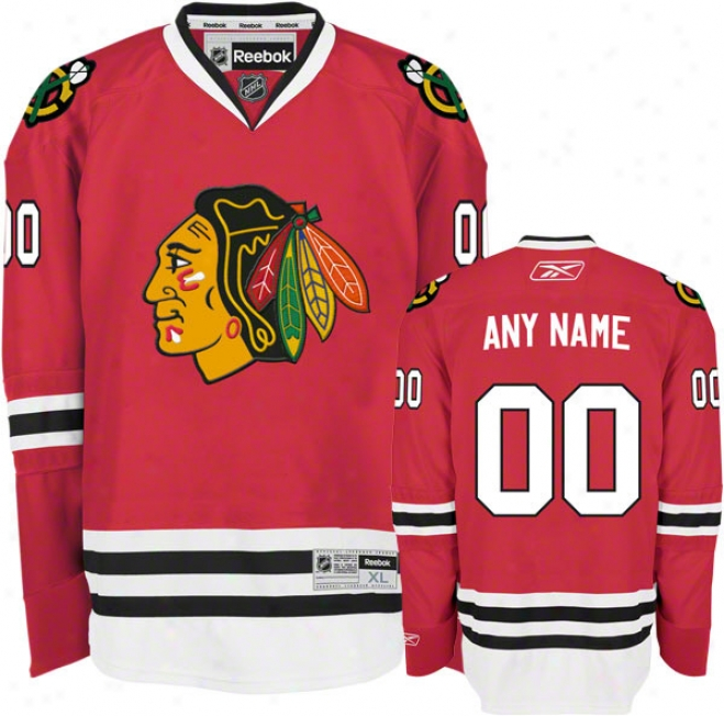 Chicago Blackhawks Red Premier Jersey: Customizable Nhl Jersey