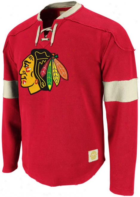 Chicago Blackhawks Red Reebok Retro Sport Jersey