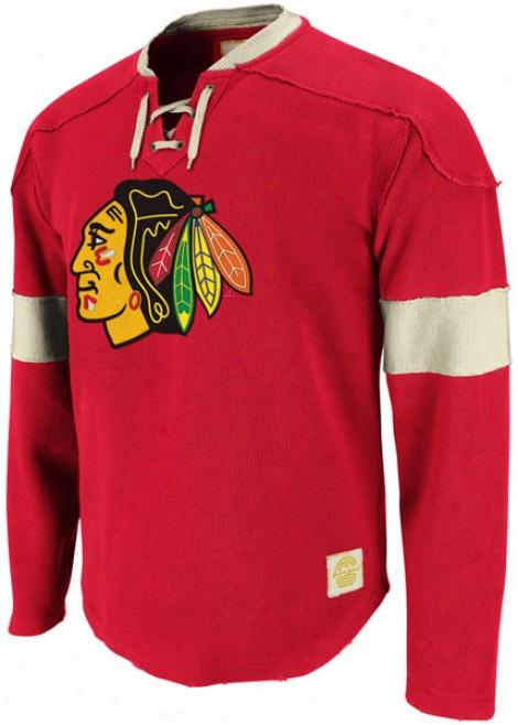 Chicago Blackhawks Red Reebok Retro Sport Jersey