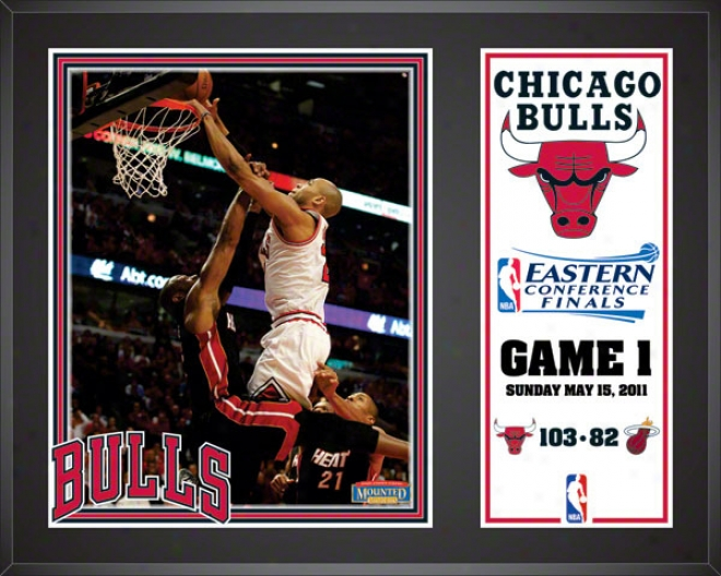 Chicago Bulls 2010-2011 Oriental Conference Finals Game 1, 12x15 Sublimated Color Plaque