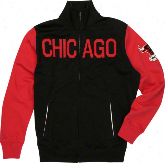 Chicago Bulls Black '47 Brand Courtside Track Jacket