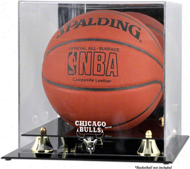 Chicago Bulls Golden Classic Logo Basketball Display Case