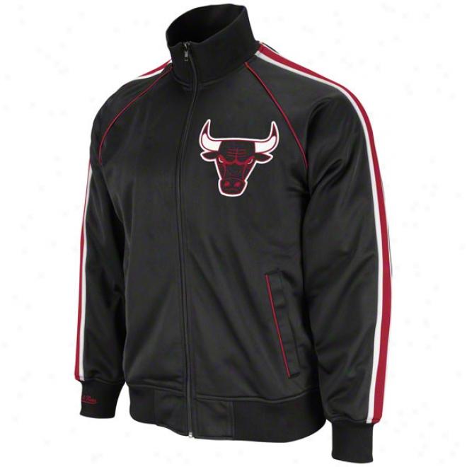 Chicago Bulls Mitchell & Ness Final Score Track Jacket