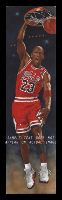 Chiacgo Bulls - &quotjordan&quot - Oversized - Framed Giclee