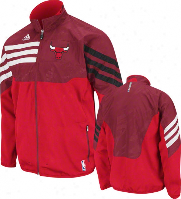 Chicago Bulls Red 2O11-2012 Eastern Conference On-court Warm-up Jacket