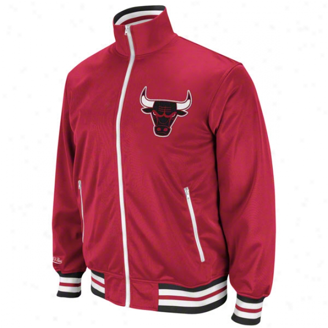 Chicago Bulls Red Mitchell & Ness Preseason Warmup Course Jacket