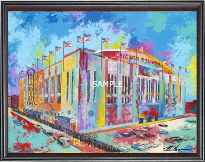 Chicago Bulls/chicago Blackhawks - &quotchicago Stadium&quot - Wall - Framed Giclee