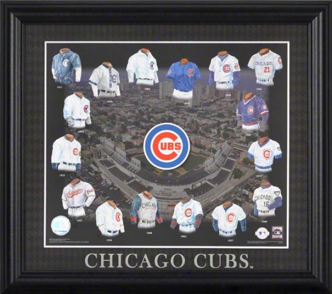 Chicago Cubs 13x15 Framed Print  Details: Evplution
