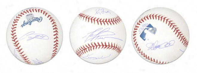 Chicago Cubs 2004 Starting Rotation Autographed Baseball