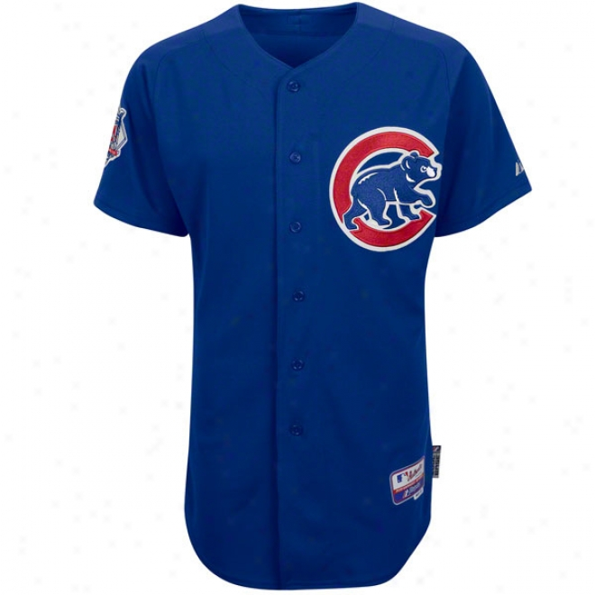 Chicago Cubs Alternate Royal Blue Authentic Cool Baseã¢â�žâ¢ Oh-field Mlb Je5sey