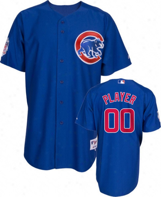 Chicago Cubs -any Playwr- Authentic Alternate Blue On-field Jersey