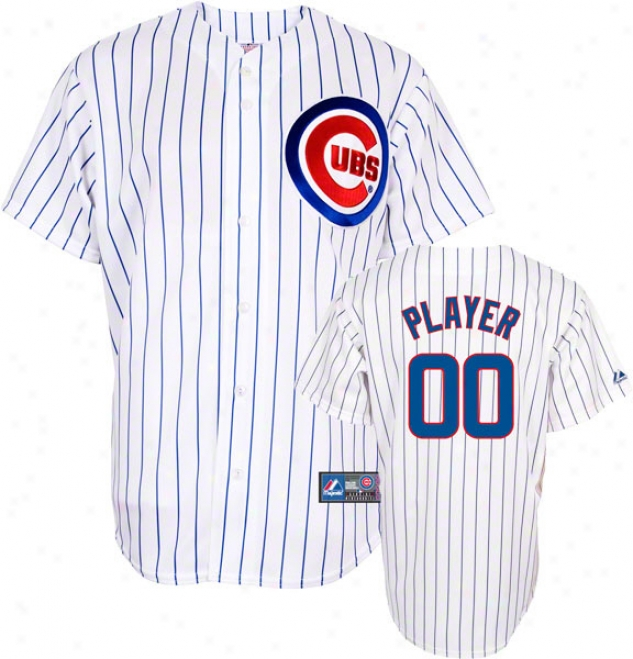 Chicago Cubs -any Plahe- Home Mlb Replica Jersey
