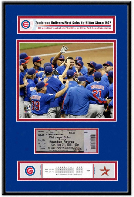 Chicago Cubs Carlos Zambrano - No Hitter - Ticket Frame