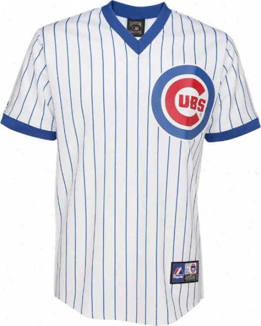 Chicago Cubs Cooperstown Pinstripe Replica Jersey