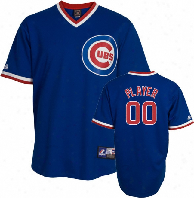 Chicago Cubs Cooperstown Royal -any Player- Replica Jersey