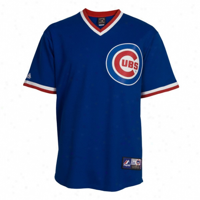 Chicago Cubs Cooperstown Royal Blue Replica Jersey