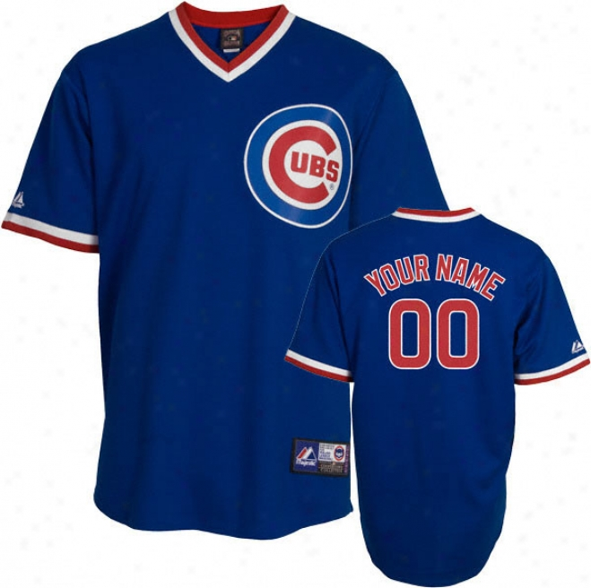 Chicago Cubs Cooperstown Royal -personalized With Your Name- Replica Jersey