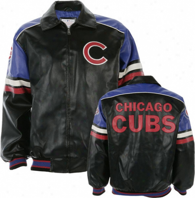 Chicago Cubs Faux Leather Jerkin