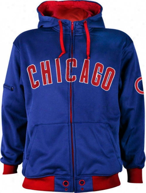 Chicago Cubs Full Zip Synthetic Hooded Jacket