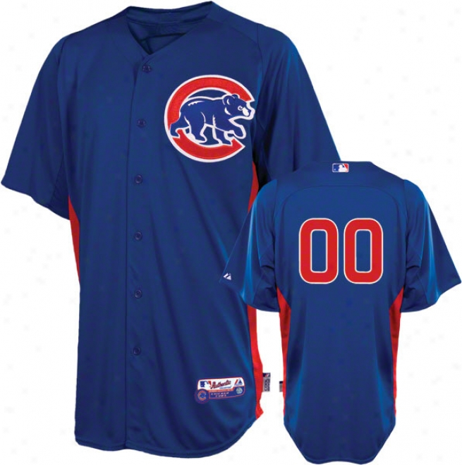 Chicago Cubs Jersey: Any Number Atuhentic Magnificent Blue On-field Batting Practice Jersey