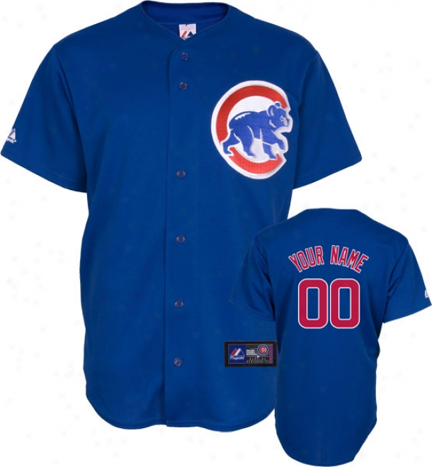 Chicago Cubs -personalized With Your Name- Alternate Mlb Replica Jersey