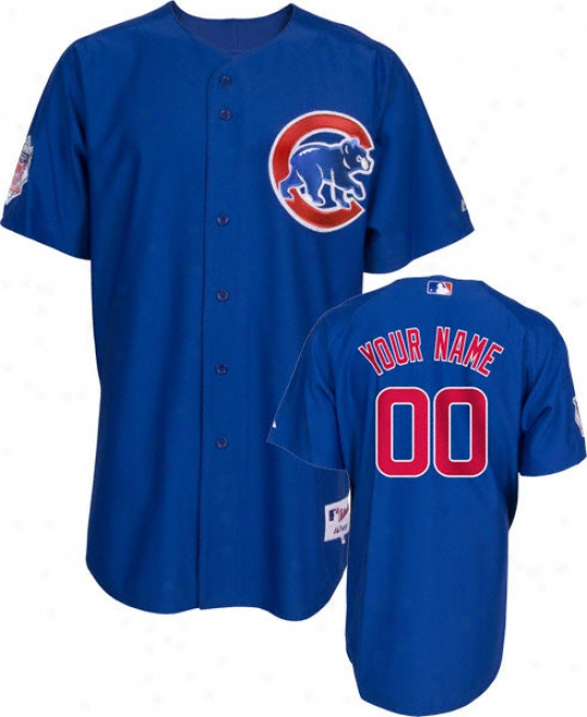 Chicago Cubs -personalizes With Your Name- Authentic Reciprocate Blue On-field Jersey