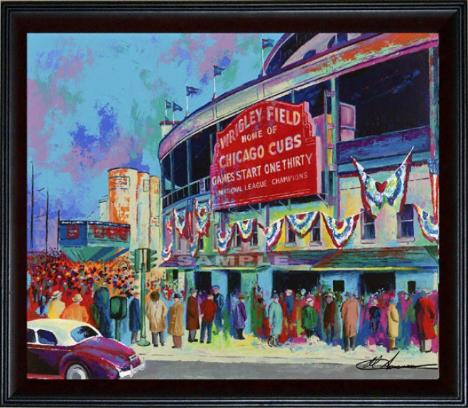 Chicago Cubs - &quotwrigley Field 1945&quot - Oversized - Framed Giclee