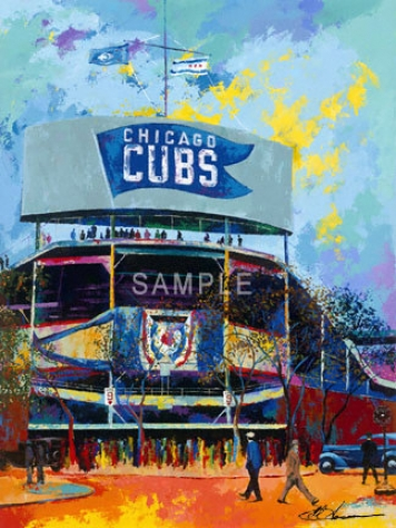 Chicago Cubs - &quotwribley Field Bleacher View&quot - Large - Unframed Giclee
