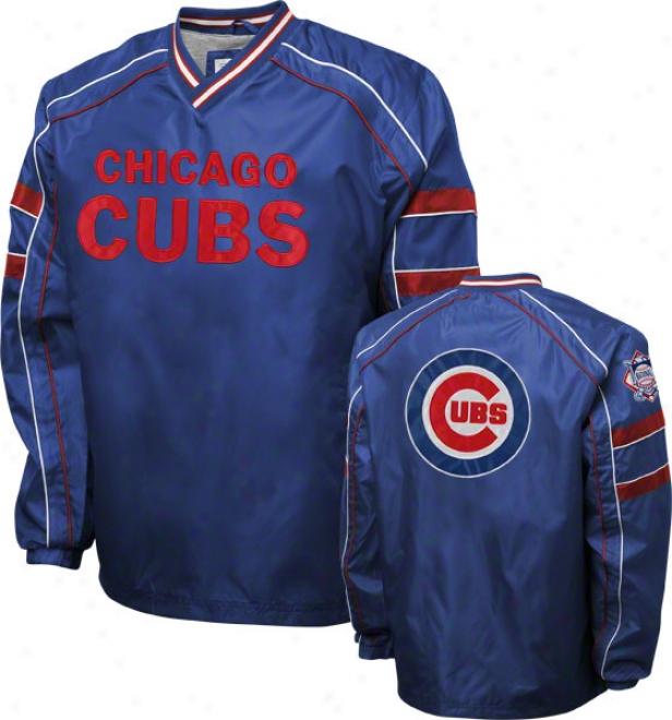 Chicago Cubs Royal V-neck Pullover Jacket