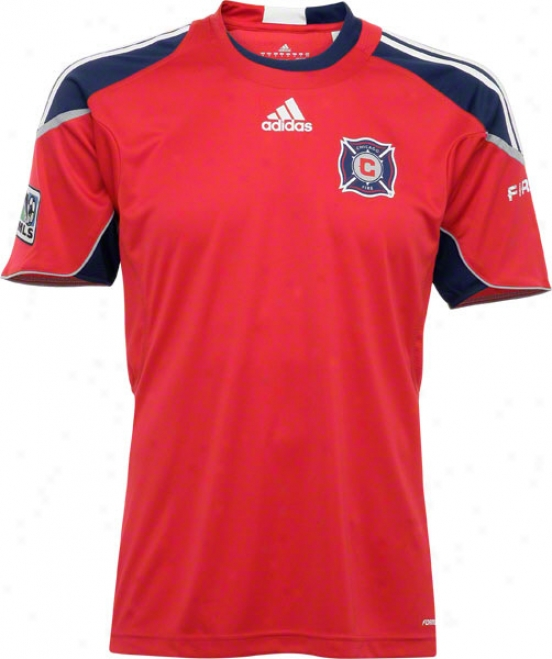 Chicago Fire Adidas Soccer Red Pregame Jersey