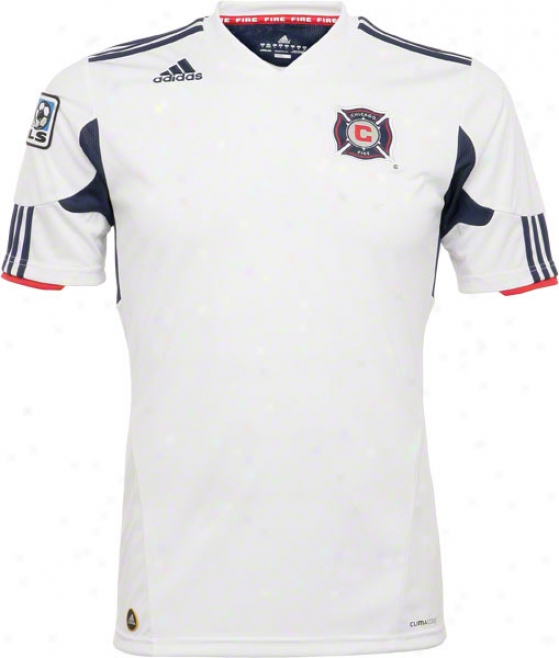 Chicago Fire White Adidas Soccer Replica Away Jersey