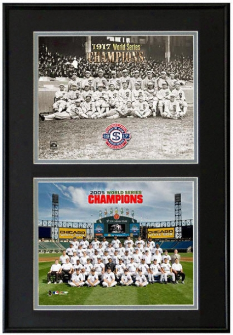 Chicago White Sox 1917 And 2005 World Series Champions Frame