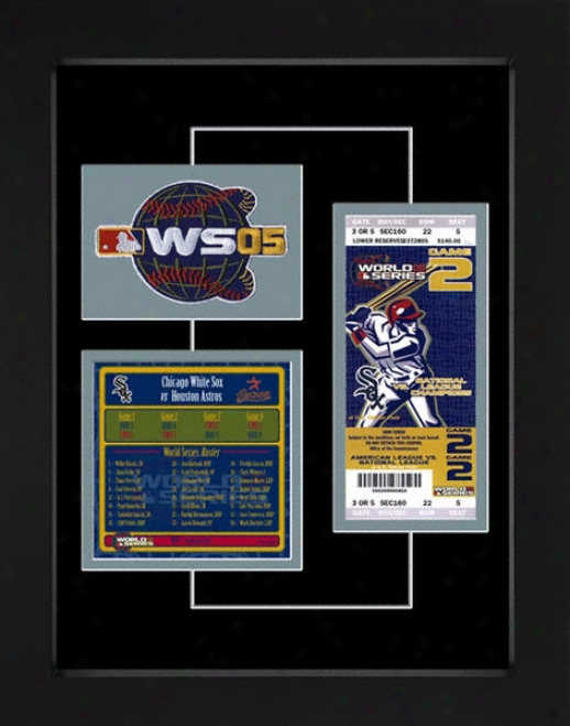 Chicago White Sox 2005 World Series Replica Ticket & Pach Frame