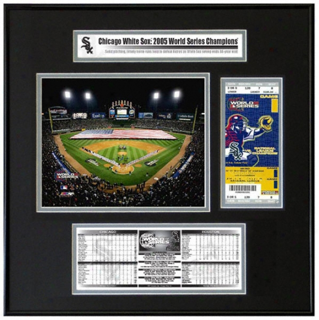 Chicago White Sox - 2005 World Series Tickey Frame Jr. - Game 1 Opening Cereemony