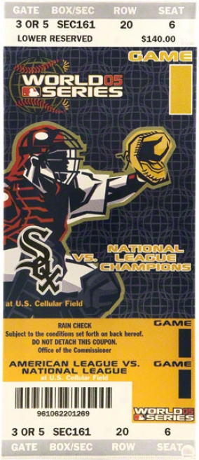 Chicago White Sox - 2005 Ws Gm 1 - Autographed Mega Ticket